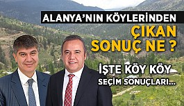 Alanya'nın köyleri Türel mi dedi? Böcek mi ?