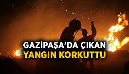 Gazipaşa'da çıkan yangın korkuttu