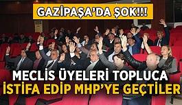 Gazipaşa'da şok! Meclis üyeleri topluca istifa edip MHP'ye geçtiler