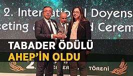 TABADER Ödülü AHEP'in oldu