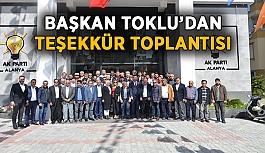 Toklu'dan mahalle başkanlarına seçim teşekkürü