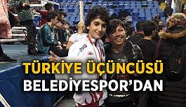 Türkiye üçüncüsü Belediyespordan
