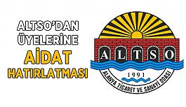 ALTSO'dan üye aidatı hatırlatması