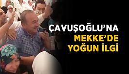 Çavuşoğlu'na Mekke'de yoğun ilgi