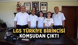 LGS Türkiye birincisi içimizden birisi