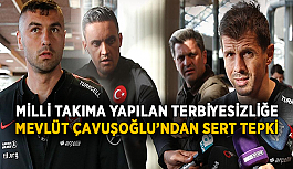 Milli takıma yapılan terbiyesizliğe Çavuşoğlu'ndan sert tepki