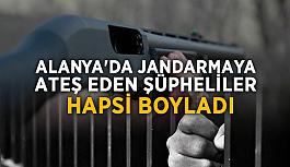 Alanya'da jandarmaya ateş eden şüpheliler hapsi boyladı!