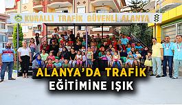 Alanya'da trafik eğitimine ışık