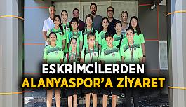 Eskrimcilerden Alanyaspor'a ziyaret