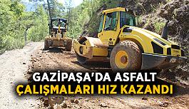 Gazipaşa'da asfalt çalışmaları hız kazandı