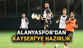 Alanyaspor'dan Kayseri'ye hazırlık