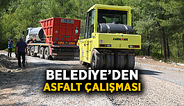 Belediye'den asfalt çalışması