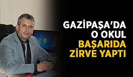 Gazipaşa'da o okul başarıda zirve yaptı