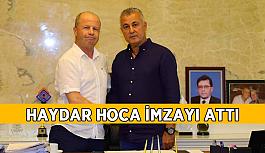 Haydar Hoca Manavgat'a imzayı attı