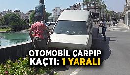 Otomobil çarpıp kaçtı: 1 yaralı