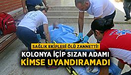 Sağlık ekipleri ölü zannetti! Kolonya içip sızan adamı kimse uyandıramadı