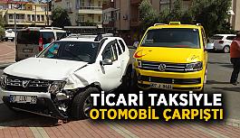 Ticari taksiyle otomobil çarpıştı: 5 yaralı
