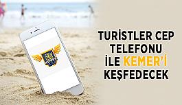 Turistler cep telefonu ile Kemer'i keşfedecek