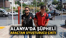 Alanya'da şüpheli araçtan uyuşturucu çıktı