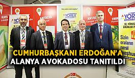Cumhurbaşkanı Erdoğan'a Alanya avokadosu tanıtıldı