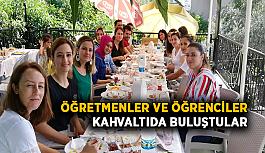 Öğretmenler ve öğrenciler kahvaltıda buluştular