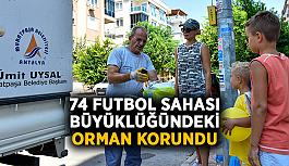 74 futbol sahası büyüklüğündeki orman korundu