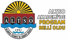 ALTSO Akademi'de program belli oldu