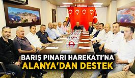 Barış Pınarı Harekatı'na Alanya'dan destek