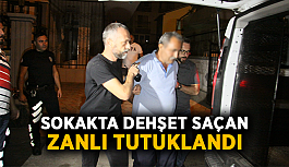 Sokakta dehşet saçan zanlı tutuklandı