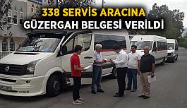 338 servis aracına güzergah belgesi verildi