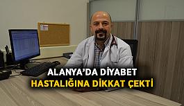 Alanya'da diyabet hastalığına dikkat çekti