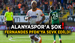 Alanyaspor'a şok! Fernandes PFDK'ya sevk edildi