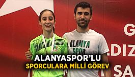 Alanyaspor'lu sporculara milli görev