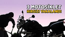 Antalya'da 3 motosiklet hırsızı yakalandı