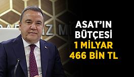 ASAT'ın bütçesi 1 milyar 466 bin TL