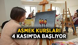 ASMEK kursları 4 Kasım'da başlıyor