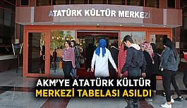 AKM'ye Atatürk Kültür Merkezi tabelası asıldı