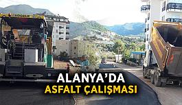 Alanya'da asfalt çalışması