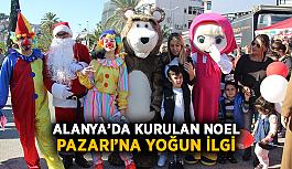 Alanya'da Noel Pazarı'na yoğun ilgi