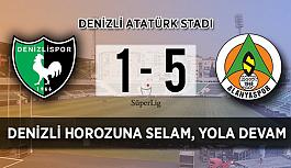 Alanyaspor, Denizlispor'a gol oldu yağdı