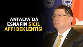 Antalya'da esnafın sicil affı beklentisi