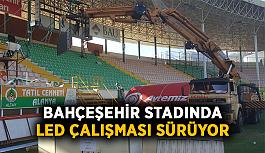 Bahçeşehir Okulları stadında LED çalışması...