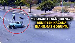 """""""Bu araçtan sağ çıkılmaz"""" dedirten kazada inanılmaz görüntü"""
