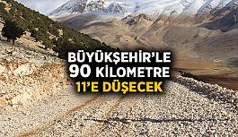 Büyükşehir'le 90 kilometre 11'e düşecek
