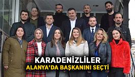 Karadenizliler Alanya'da başkanını...