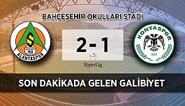 MAÇ BİTTİ! Alanyaspor - Konyaspor: 2-1