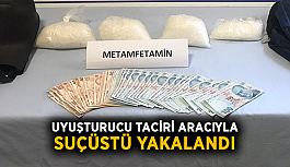 Uyuşturucu taciri aracıyla suçüstü yakalandı