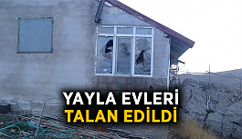 Yayla evleri talan edildi