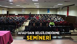 AFAD'dan bilgilendirme semineri