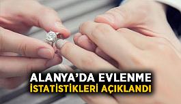 Alanya'da evlenme istatistikleri açıklandı